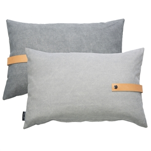 Cushion Canvas reversible 60x40, grey
