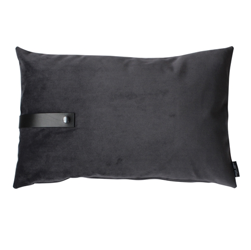 Cushion Velvet 60x40, dark grey