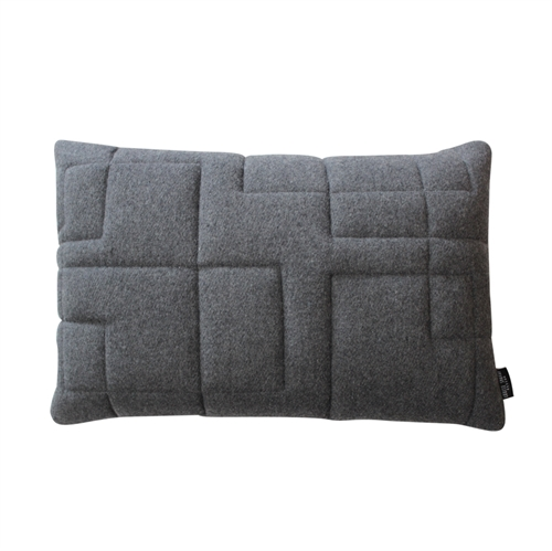 Cushion Wool Quilt 40x60, light grey