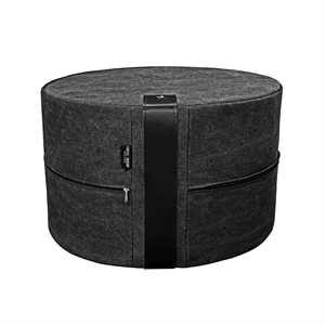 Pouf Canvas HIGH 50x30 cm, black
