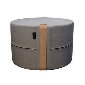 Pouf Canvas HIGH 50x30 cm, grey