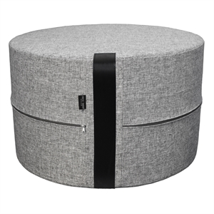 Pouf Twist X-HIGH 62x40 cm, grey