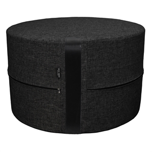 Pouf Twist X-HIGH 62x40 cm, black