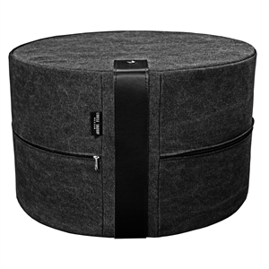 Pouf Canvas X-HIGH 62x40 cm, black