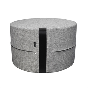 Pouf Twist HIGH Ø50x30 cm, grey