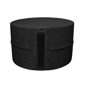 Pouf Twist HIGH Ø50x30 cm, black