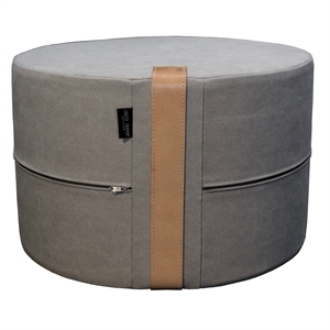 Pouf Canvas X-HIGH 62x40 cm, grey