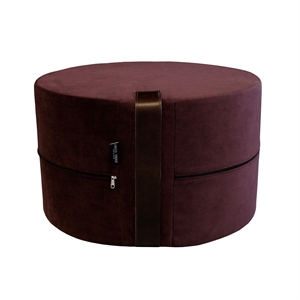 Pouf Velvet HIGH Ø50x30 cm, bordeaux