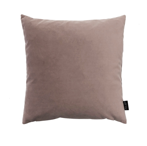 Cushion Velvet wo. leather strap 50x50, dusty rose
