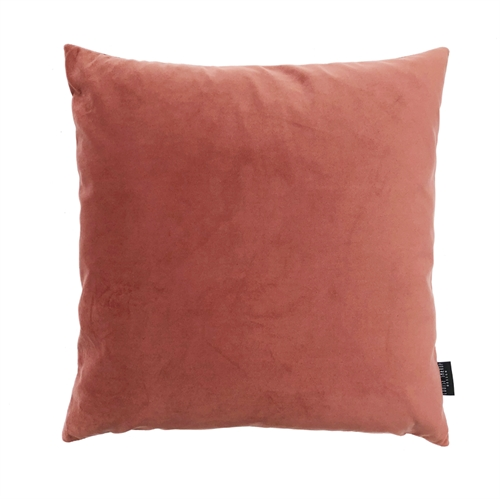 Cushion Velvet wo. leather strap 50x50, peach