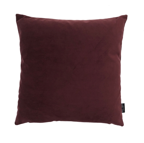 Cushion Velvet wo. leather strap 50x50, bordeaux