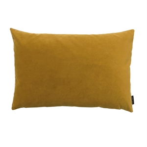 Cushion Velvet wo. leather strap 60x40, ocher