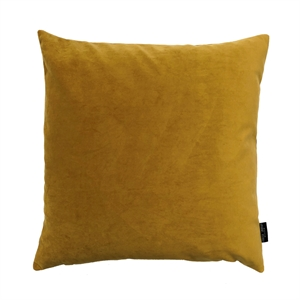 Cushion Velvet wo. leather strap 50x50, ocher